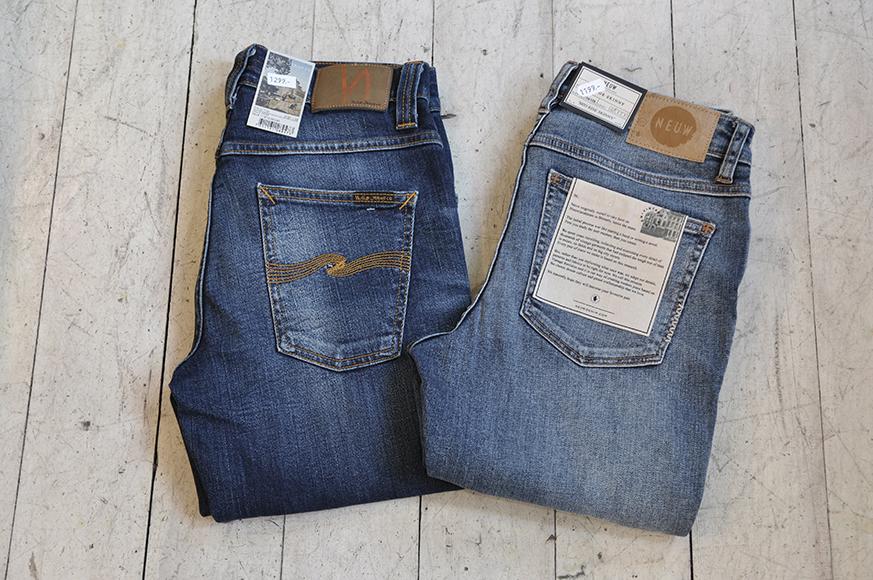 """""""Høsten er for kort til å gå i dårlige jeans!"""" som Lars ville ha sagt. Disse jeansa finner du hos """"Bare"""". Nudie til herre og Neuw til dame."""
