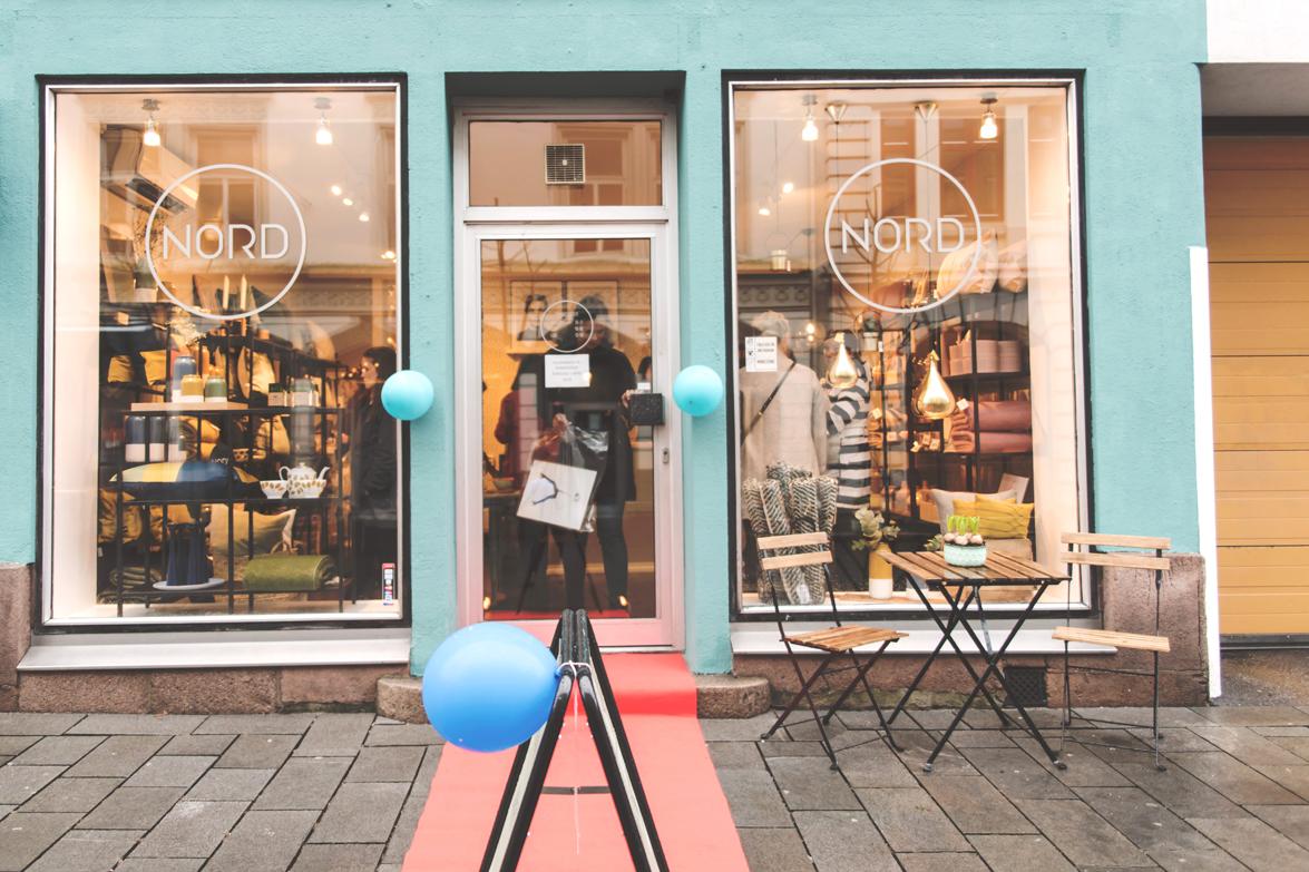 Bilde fra utsiden av butikken: Nord