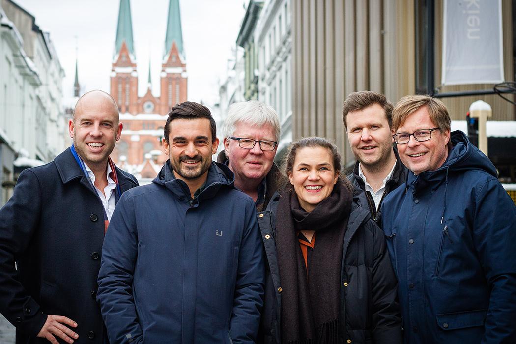 Bilde av Emil Eriksrød, Aziz Chaer, Kathrine Nakken, Tom Henrik Haugland og Håvard Nymoen Johansen