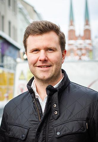 Bilde av markedssjef i GI, Tom Henrik Haugland